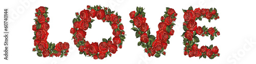 love text red roses