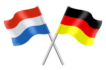 Fahnen : Deutschland und Luxemburg
