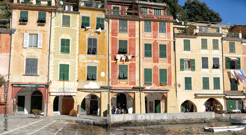 portofino painted houses