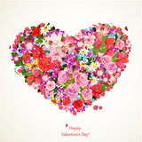 Fototapety Heart of beauty floral for you design