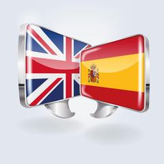Sprechblasen in spanisch und englisch