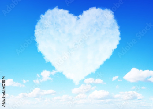 Valentine's day love cloud concept