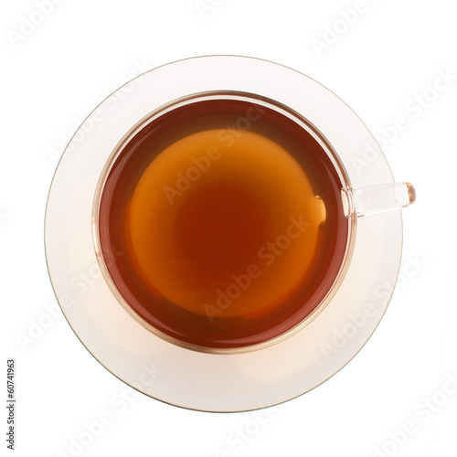 Poster Thee Top view of tea