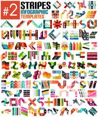 Huge set of stripe infographic templates #2
