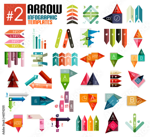 Huge set of arrow infographic templates #2