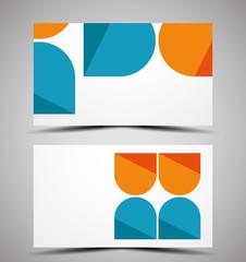 Vector CMYK business card design template