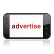 Advertising concept: Advertise on smartphone