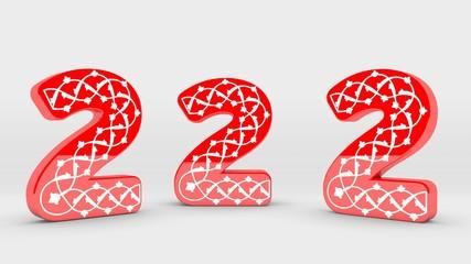 3D Tipografi Font İki