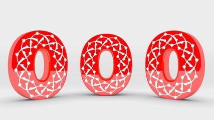 3D Tipografi Font Sıfır