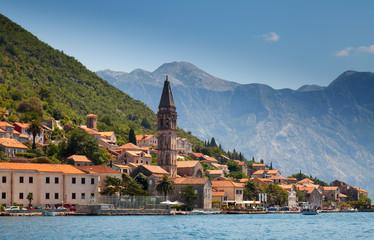 Old town landscape, Perast, Kotor Bay, Montenegro