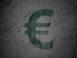 Currency concept: Euro on grunge wall background