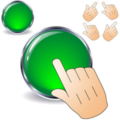 Green button ready to be pushed