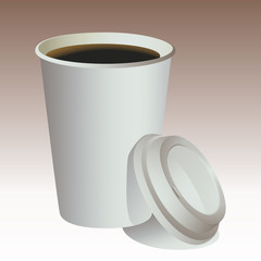 Paper cup coffee vector
