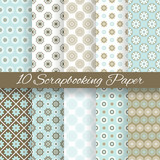 Pattern papers for scrapbook (tiling).
