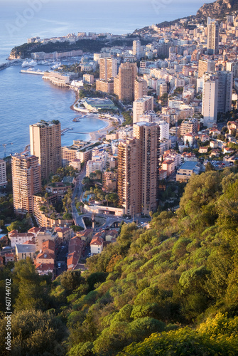 Monaco in the sunrise light