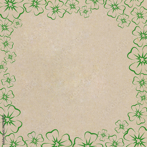 Frame of clover leaves