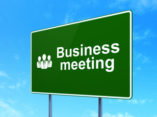 Business concept: Business Meeting and Business People on road