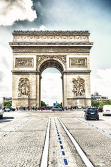 The arc of triumph in Paris