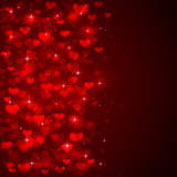 Red blurry hearts