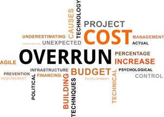 word cloud - cost overrun