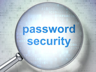 Security concept: Password Security with optical glass