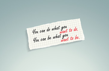 Be what you want to be.