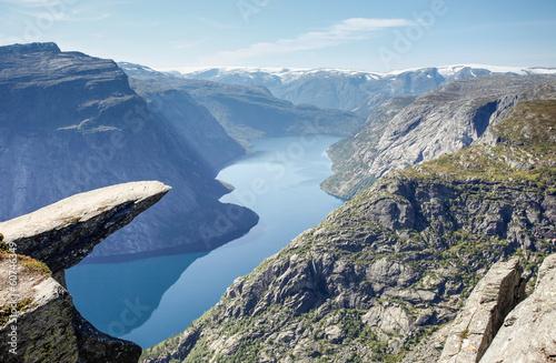 Fototapety, obrazy : trolltunga rock in norway