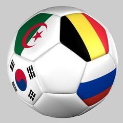 Balon banderas grupo H mundial de fútbol 2014
