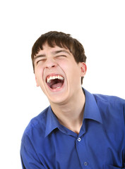 Teenager Hysterical Laughing