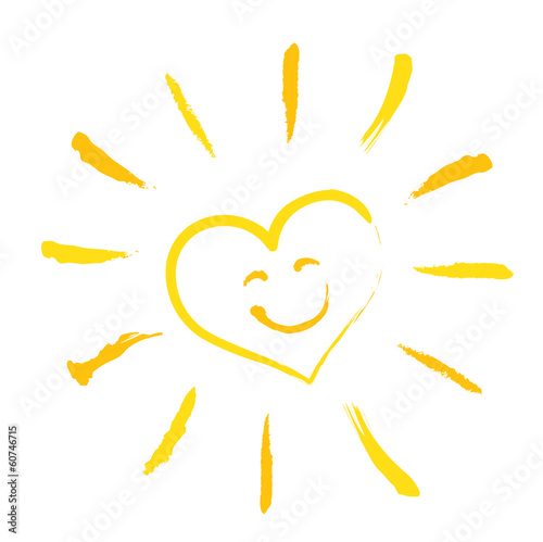 Herzsonne - Smiley