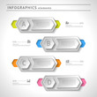 Business infographics elements. Modern design template