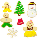 Gingerbread man isolated on white background. Christmas cookie ,