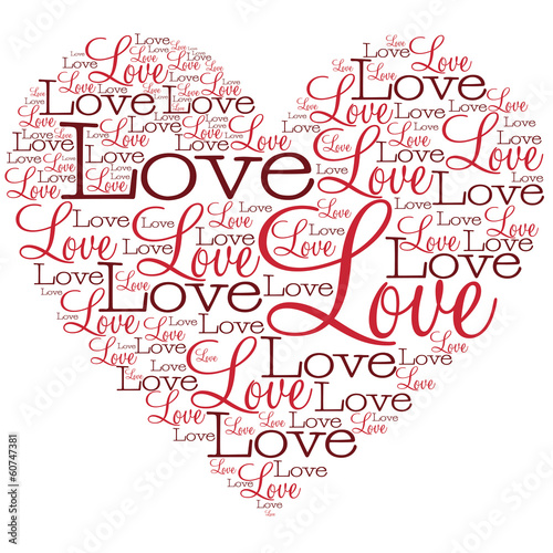 Heart made from words in vector format.