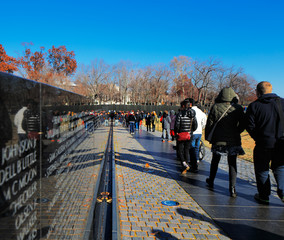 The Vietnam Veterans Memorial in Washington DC, USA