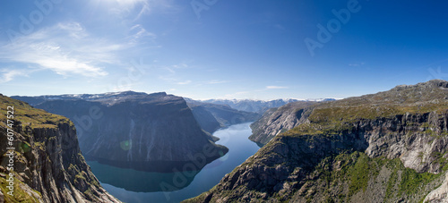 fjord panorama in norway