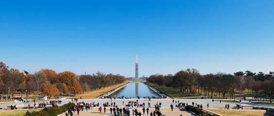 The Washington Monument as seen from the Lincoln Memorial