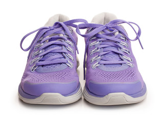 Purple female sport shoes