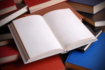 libro aperto con pagine bianche