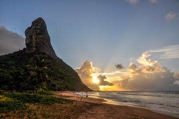 Morro do Pico at sunset, fernando de Noronha, Pernambuco (Brazil