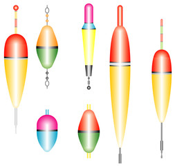 Collection of fishing floats