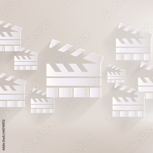 Clapperboard icon. Film , cinema, movie symbol