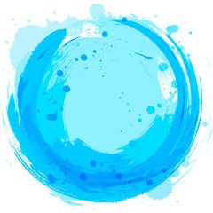 Vector blue background. Abstract design element. Splashes of pai