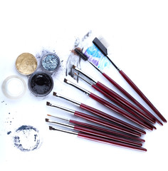 Image of brushes and applicators for eye makeup