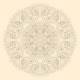 Fototapety Ornamental round lace pattern