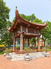 Bell tower in Temple of Literature (circa 1070). Hanoi, Vietnam
