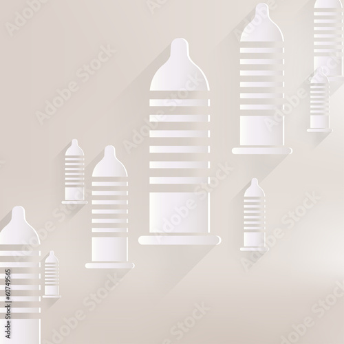 Condom icon. Health care. Medical background