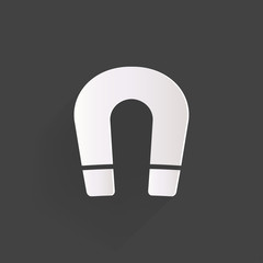 Magnet Symbol. Electromagnetism symbol