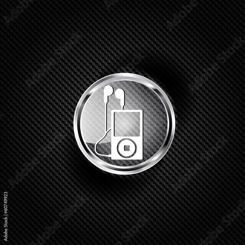 Mp3 player icon. Music player symbol