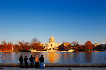 The United States Capitol in Washington DC, USA