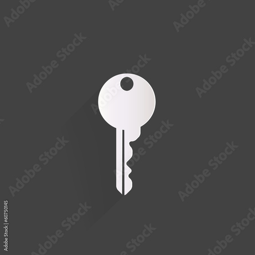 Key icon, door lock symbol